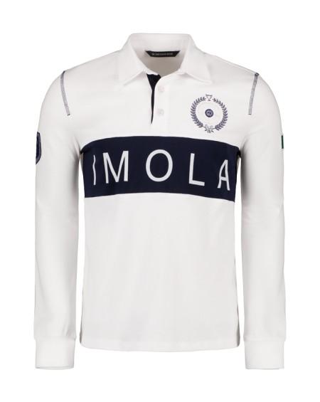 Polo IMOLA manche longue jersey 30/2 100% coton (BLANC)
